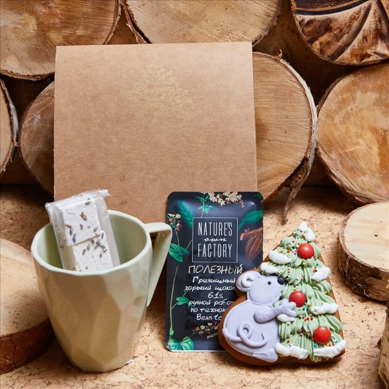 Подарочный набор «Мышка у елки»