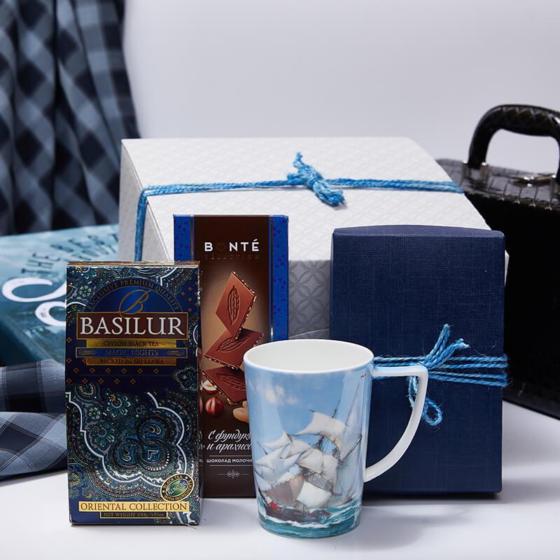 Игровой подарочный набор с чаем «Морская романтика»