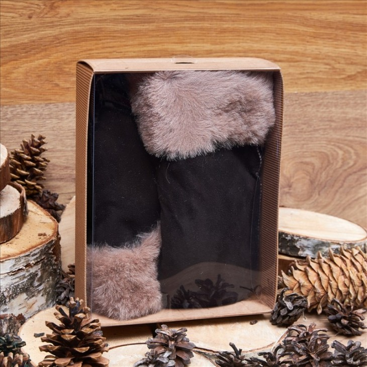 Подарочный набор «Варежки мужские из овчины»