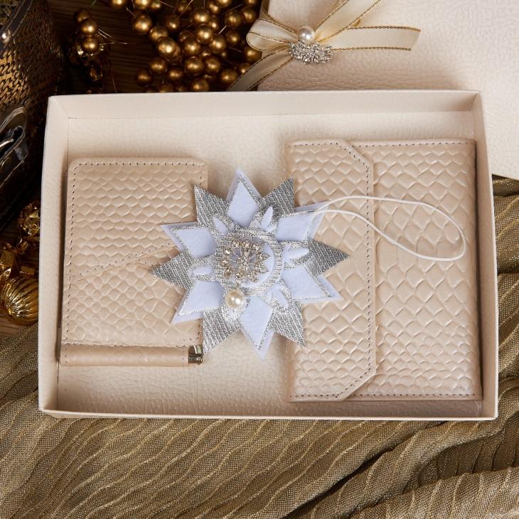 Подарочный набор «Снежинка серебро»