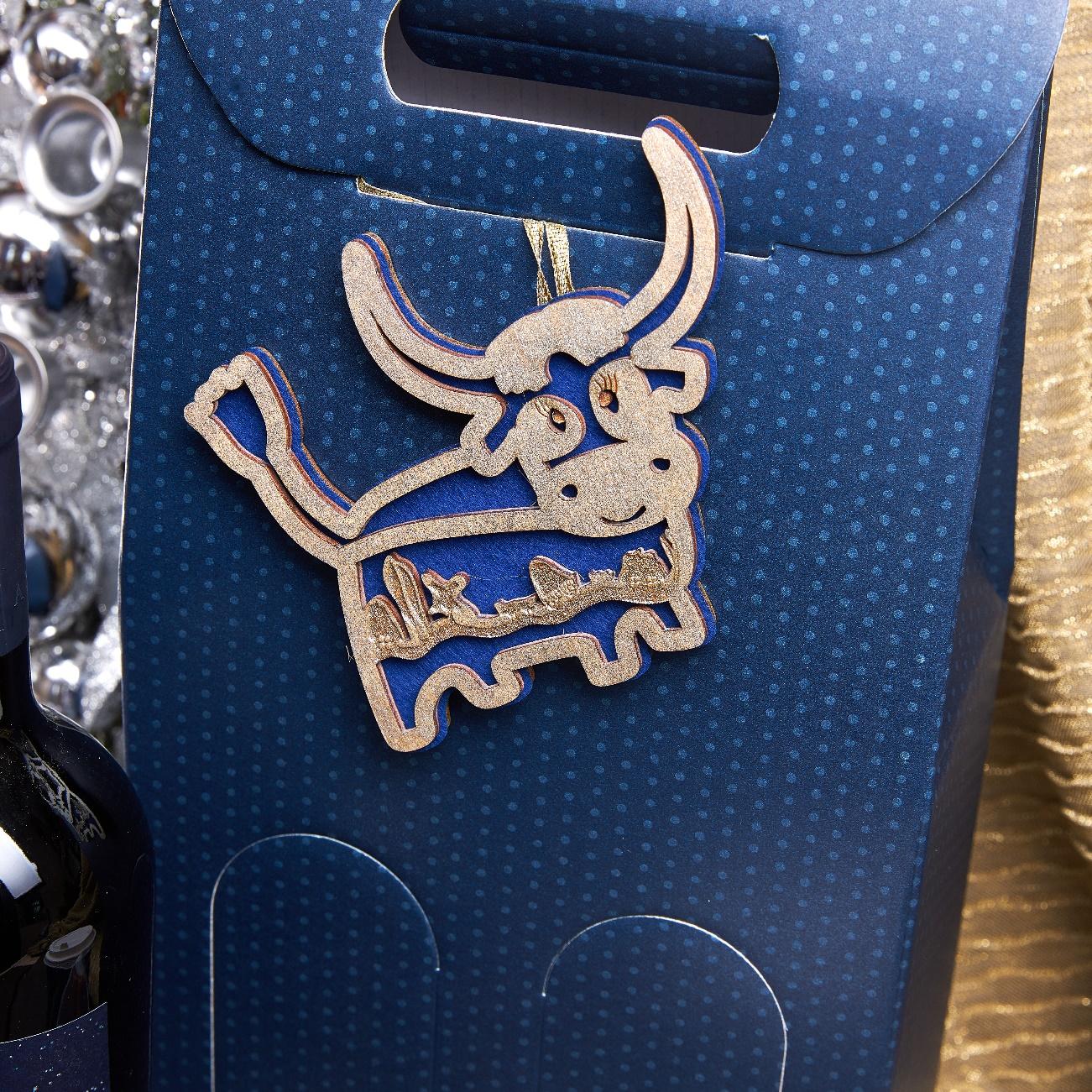 Подарочный набор «Бычок синий»