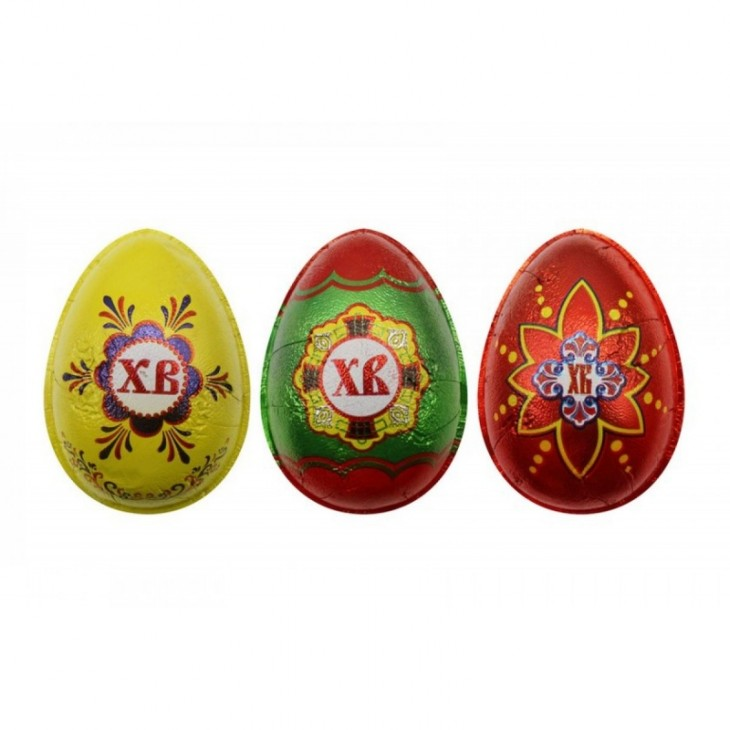 Яйцо шоколадное С Пасхой в формованной фольге 33шт